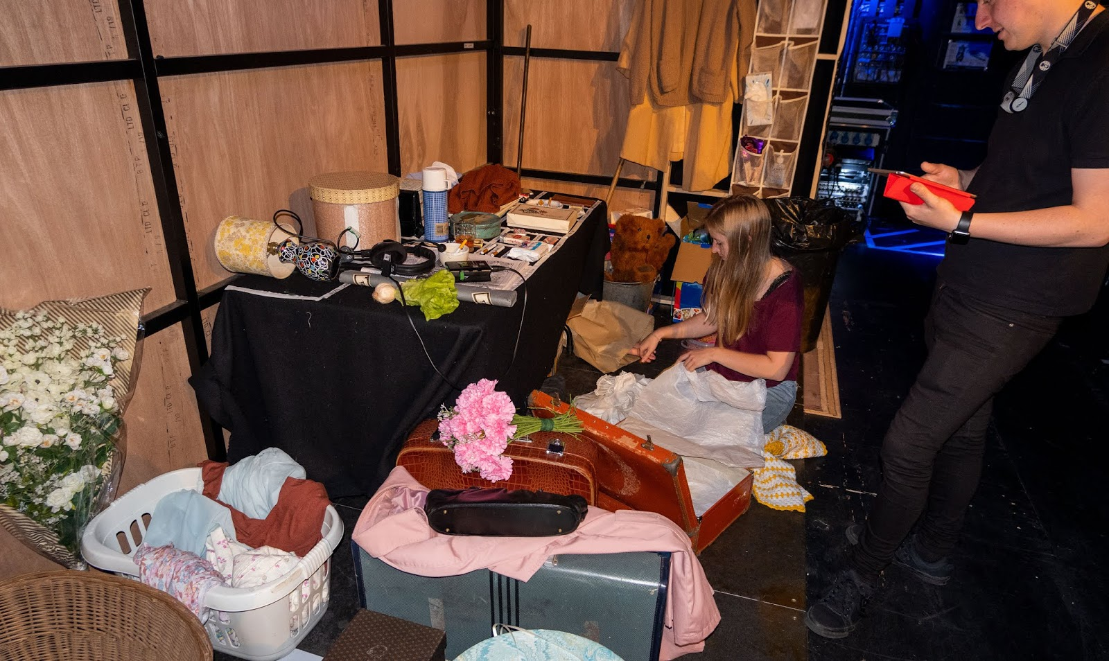 The props table for A Taste Of Honey at The Marlowe Theatre