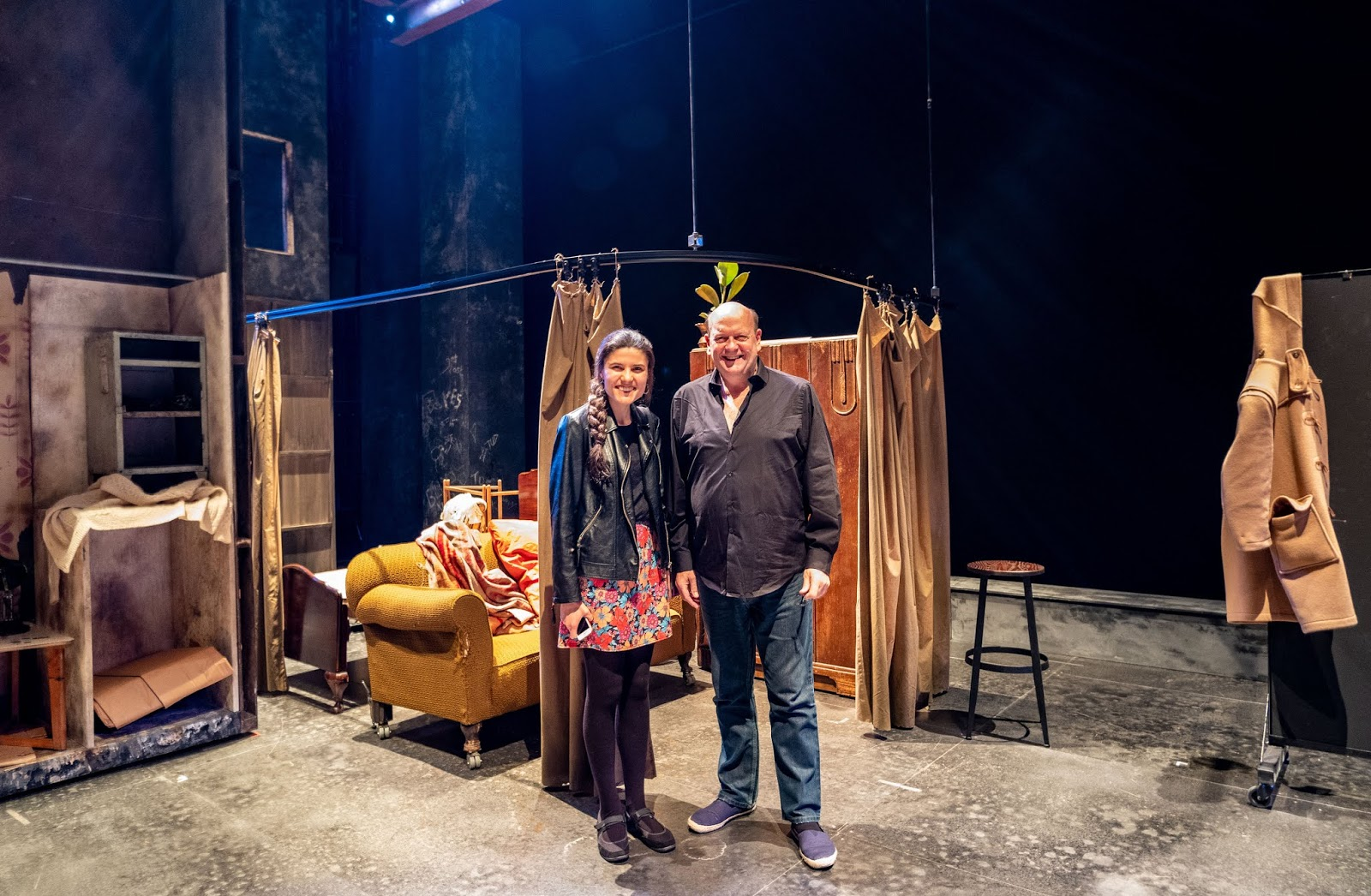 Antony (A Taste Of Honey Company Manager) and I backstage at The Marlowe Theatre