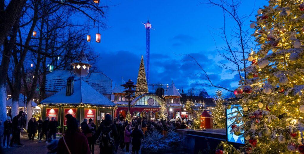Tivoli Gardens at Christmas, Copenhagen
