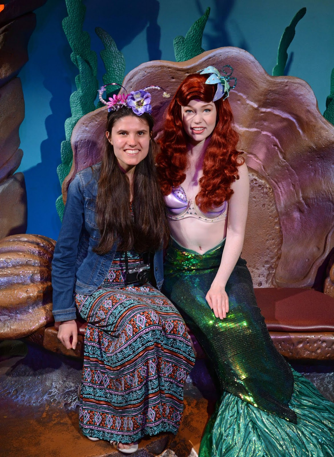 Meeting Princess Ariel at Disney's Magic Kingdom on our 4 park challenge day