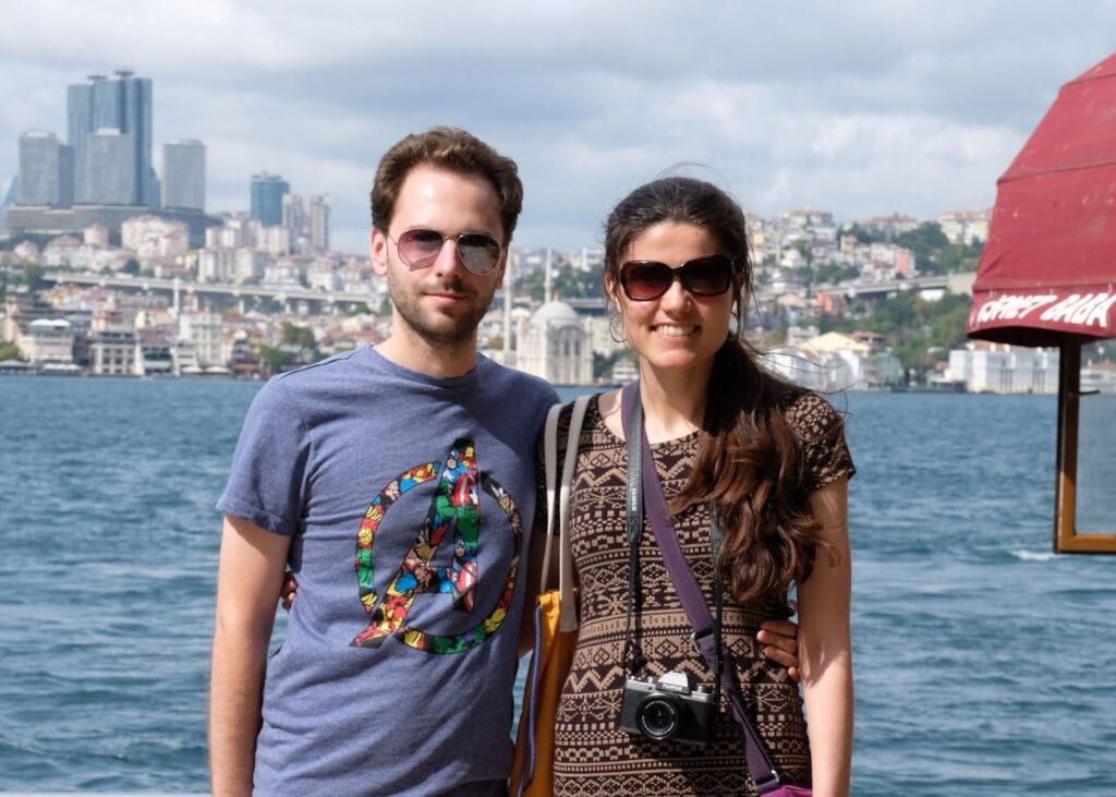Kat and Stuart visiting the Asian side of Istanbul, Turkey
