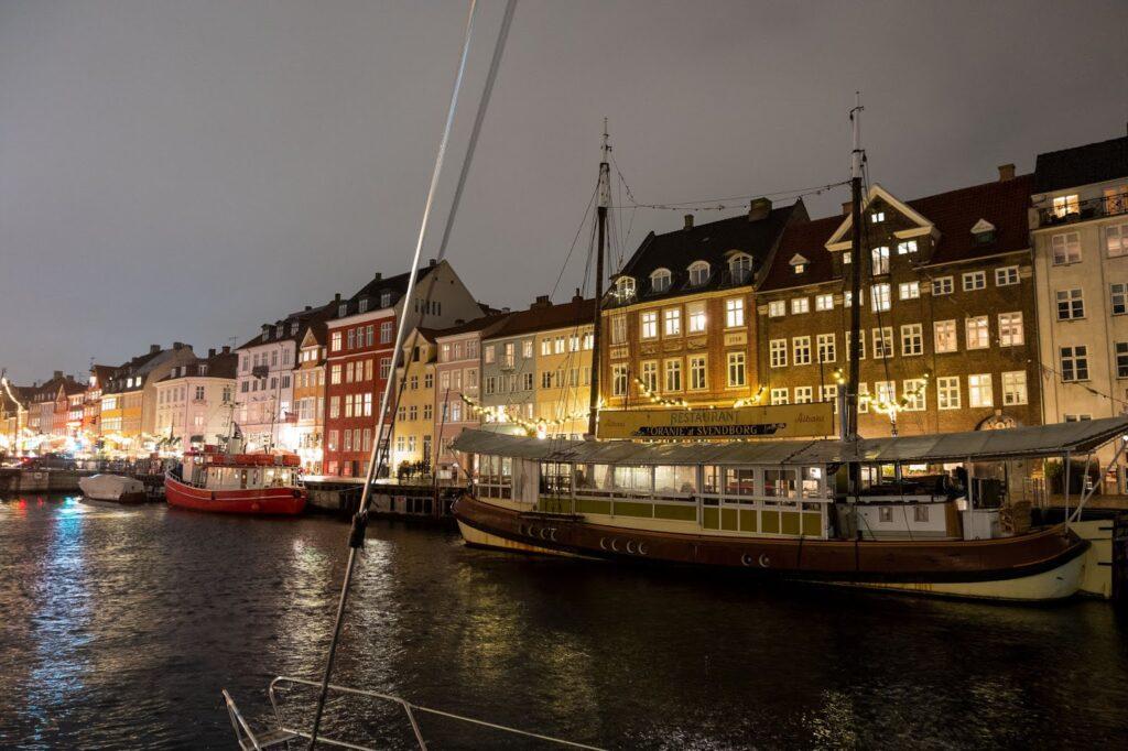 Nyhavn at night, Copenhagen