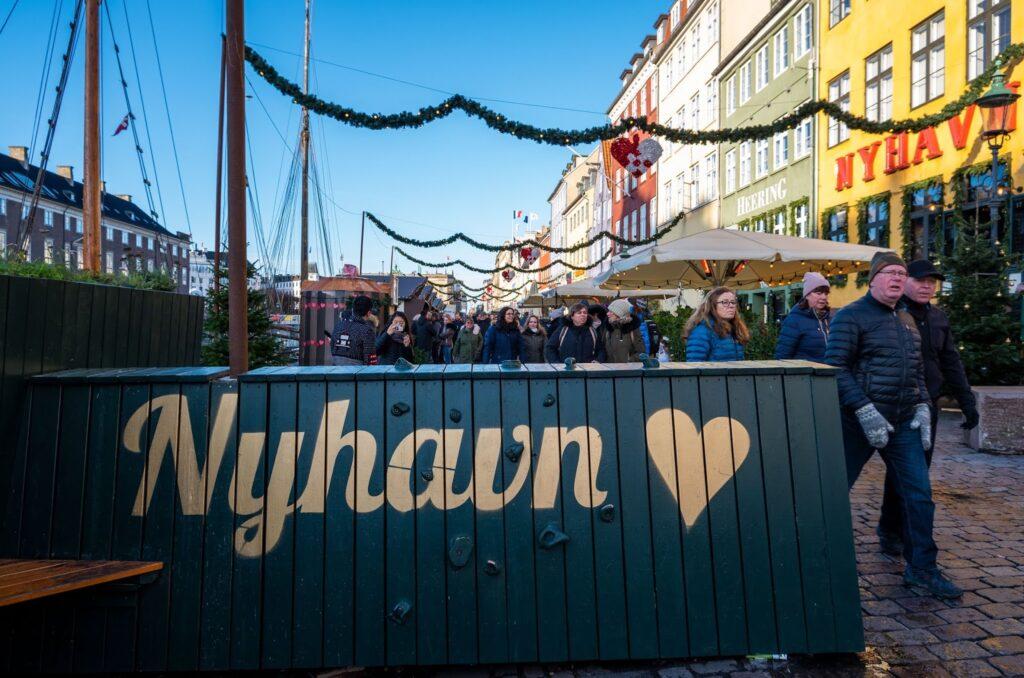 Nyhavn Christmas Market in Copenhagen, Denmark