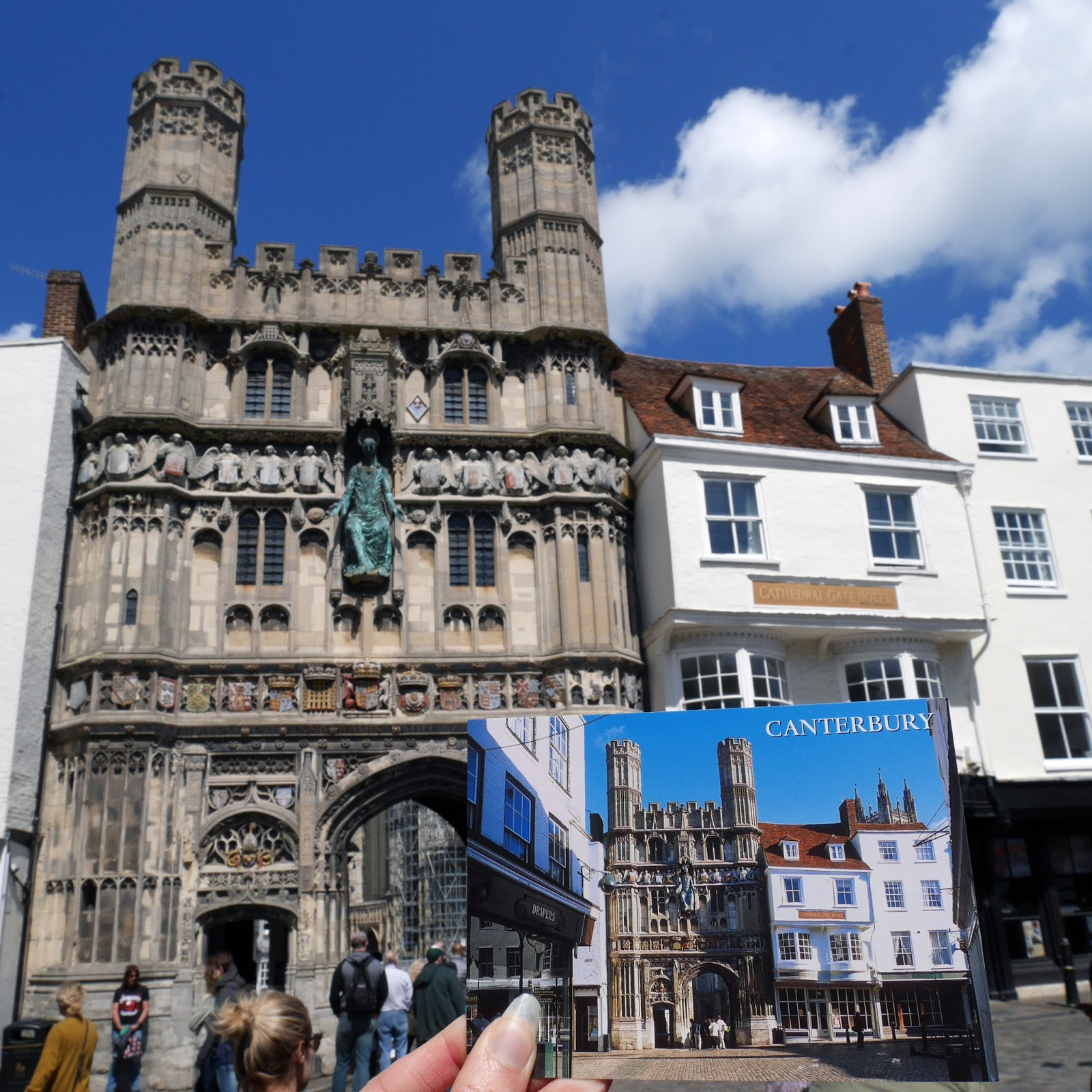 The Cathedral entrance on Mercery Lane in Canterbury, Kent