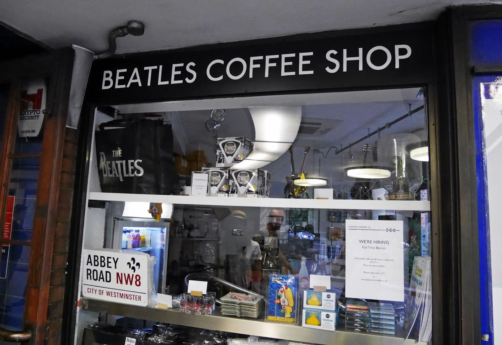 Beatles Coffee Shop at St John's Wood tube station near Abbey Road